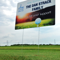 hole sponsor, golf outing, digital graphics,yard signs