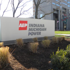 AEP monument sign