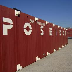 barge showing large, stenciled letters