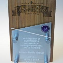 wine and stein custom award