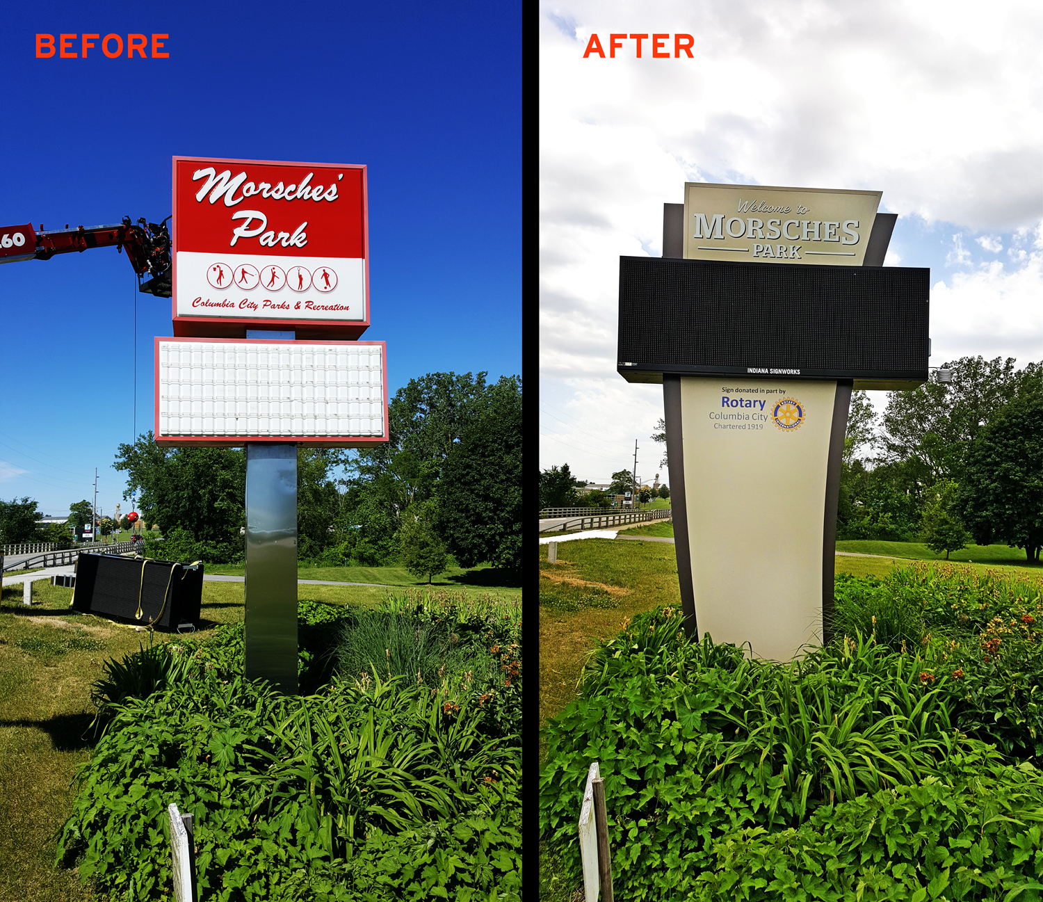 Before And After Signs A Fresh New Look For Morsche S